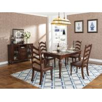 Wholesale Rubber Wood Home dining room furniture Long and round dining table with 4/6 people Chair can by Upholstered cushion seat from china suppliers