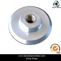 Wholesale 100mm Aluminum velcro polishing backer pads for air grinder from china suppliers