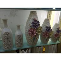 Beautiful Home decoration Vase for flower, home decoration vase,Ceramic small chinese vase cheap with seashell for hotel