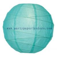 Wholesale 8 Inch Robin Egg Large Round Paper Lanterns  , Personalized Paper Lanterns from china suppliers