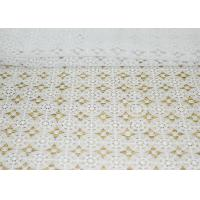 Wholesale DTM French Guipure Corded Lace Fabric , 100 Polyester Chemical Lace from china suppliers