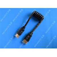 Wholesale Black 8 Pin High Speed HDMI Cable , Gold Plated Multimedia HDMI To HDMI Cable from china suppliers