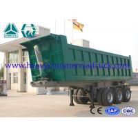 Quality Reliable Structure Hydraulic Square Tipping Trailer , Heavy Truck Trailer for sale