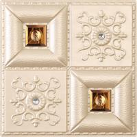 Wholesale Decorative False Wall Panel Designs 3d Pu Leather Wall Panel Room Decoration , D-013 from china suppliers