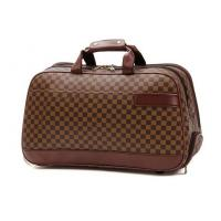 Wholesale Large Travelling Luggage Bags with Tie Rod Hand Double Use , Brown PU Leather Trolley Bags from china suppliers