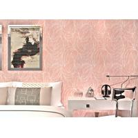 Wholesale Leaf Pattern Removable Reusable Wallpaper , Contemporary Living Room Wallpaper from china suppliers