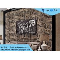 Wholesale Vintage Style Modern Lounge Wallpaper 0.53*10M , Sitting Room Wallpaper With English Letters from china suppliers