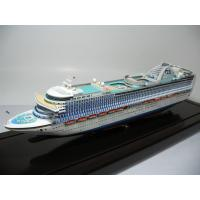 Wholesale Ivory White Plastic Cruise Ship Models With Crown Princess Cruise Ship Series from china suppliers