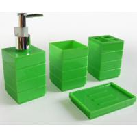 Wholesale Green plastic bathroom set from china suppliers