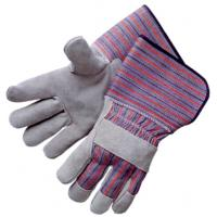 Wholesale Womens Half lining Cow split single palm reinforced Leather Work Gloves 603CBSFR4.5 from china suppliers