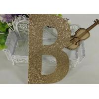 Wholesale Birthday Party Decorations Kids Glitter Paper Letters Paper Cutting Alphabet from china suppliers