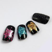 Wholesale OEM Glitter Fingers Fake Nails , Salon French nail Artificial Nail Art from china suppliers