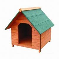 Wholesale Dog Kennel, Made of Chinese Fir Wood Material, Waterproof Roof, 78 x 80 x 79cm Sized from china suppliers