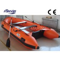 Wholesale Marine Aluminum Floor Inflatable Rescue Boat Orange For 6 Person from china suppliers