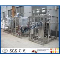 Wholesale 2TPH-20TPH  Plate heat exchanger and cooler with large gap for pasteurized milk/Yogurt /fermentated drink from china suppliers