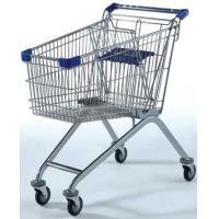 Wholesale 120KG Capacity Supermarket Wire Shopping Trolley , Grocery 4 Wheel Shopping Trolley from china suppliers