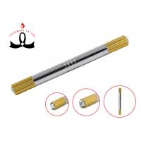 Wholesale Gold 2 Heads Permanent Makeup Tools Manual 3D Eyebrow Tattoo Pen from china suppliers