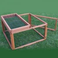 Wholesale Rabbit Hutch, Made of Chinese Fir/Wood, with Fox-proof Wire, Measures 90 x 90 x 48cm from china suppliers