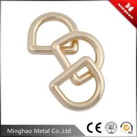 Wholesale MH-4399 Strong durable light gold metal letter d ring,shoulder bag strap d buckle 19.51mm from china suppliers