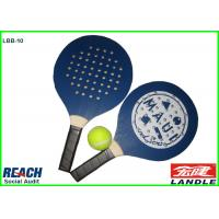 Wholesale Blue Adult Size Beach Ball Racket With Holes , Wood Board And Handle from china suppliers