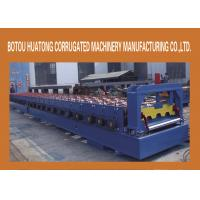 CNC Floor Deck Roll Forming Machine , Cold Steel Floor Deck Roll Forming Machinery