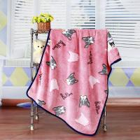 Anti Static Anti Pilling Dyed Cutting Flannel Beautiful Baby Blankets 30*40