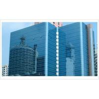 Quality Ocean Blue 8mm 10mm Coated Glass, Solar Reflective Glass Curtain Wall For Building for sale