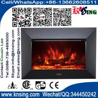 Wholesale Wall Mount Electric Fireplace Heater black/sliver metal front Log flame EF400 info@knsing.com hot sale home room heater from china suppliers