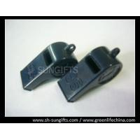 Wholesale China wholesale dark blue plastic whistle with custom logo by laser carving from china suppliers