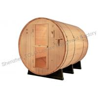 Wholesale OEM sauna cabins garden , Barrel Sauna Room with single / three phase from china suppliers