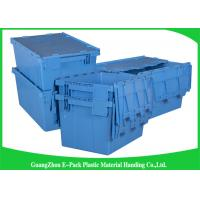 Wholesale Euro Nestable Heavy Duty Plastic Storage Containers , Plastic Box With Hinged Lid Leakproof from china suppliers