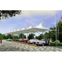 Wholesale High Peak Car Park Shade Structures , Membrane Steel Frame Car Canopy from china suppliers