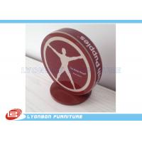 Wholesale SGS ISO Red Engraved Logo Wood Display Accessory MDF For Brand / Label from china suppliers