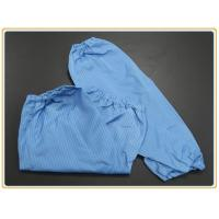 Buy cheap Cleanroom Protection Oversleeve 65% polyester + 32% cotton + 3% conductive wire from wholesalers