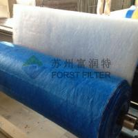 Quality FORST  Floor Fiberglass Furnace Filters Green white Pre Paint Spray Filter 20m Length manufacturers for sale