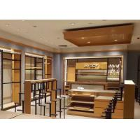 Modern Men's Clothing Display Fixtures With Heavy Duty Showcase Cabinet