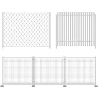 Wholesale Galvanized, PVC Coated Mobile Mesh Steel Fence Systems For Swimming Pools, Residential from china suppliers