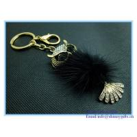 Wholesale Shinny gifts enamel handmade owl shape metal keychain from china suppliers