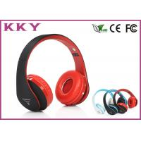 Wholesale Red Headband Bluetooth Headphones / Noise Cancelling Bluetooth Headset With TF Card from china suppliers