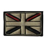 Wholesale England Flag Embroidered School Badges 3D Sew On Embroidered Patches from china suppliers