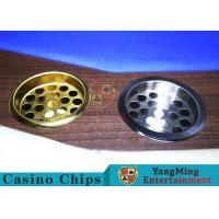 Wholesale Copper Color Poker Table Accessories , Windproof Stainless Steel Ashtray from china suppliers