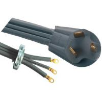 Wholesale USA NEMA 10 30P Electric Dryer Power Cord , SRDT 30A 125V Flat Power Plug from china suppliers