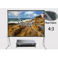 Wholesale Super Mobile 100 inch Rear Projection Screens 4 to 3 Ratio for Moveable Presentation from china suppliers