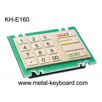 Wholesale 4x4 16 Keys Metal Keypad , Rugged stainless steel panel mount ATM keypad from china suppliers