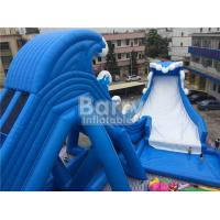 Wholesale Blue Wave 36 * 20 * 15m Giant Inflatable Water Slide With Pool CE/UL Blower from china suppliers