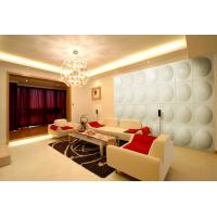Modern White PU 3D Decorative Wall Panel for Bedroom , KTV