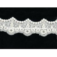 Wholesale Fringe Crochet Lace Trim For Sewing / Scalloped Embroidery Guipure Lace Fabric from china suppliers