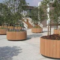 Wholesale 100% Eco-friendly WPC Flower Pots, Rust- and Crack-proof, Customized Sizes are Accepted from china suppliers
