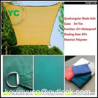 Wholesale Heavy Duty Desert Sand Mesh Shade Sail 5mx5m Square Backyard Pool Lawn Awning from china suppliers