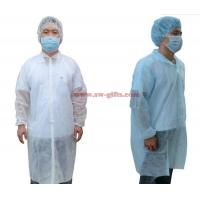 Buy cheap Disposable Lab Coats Nonwoven Fabric Work Coveralls Food Workshop White Ropa Dustproof Gown Velcro Protective Clothing from wholesalers